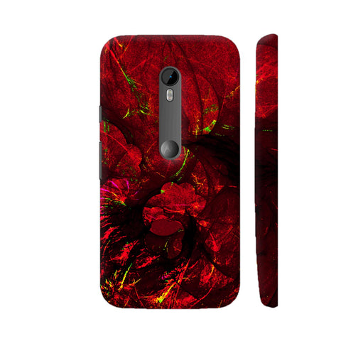 Red Art Moto G Turbo Cover | Artist: Jen28nart
