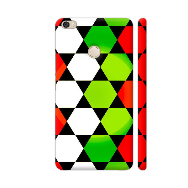 Red Green White Hexagonal Blocks Pattern Xiaomi Mi Max Cover | Artist: Sangeetha