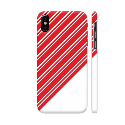 Red Lines On White iPhone X Cover | Artist: Astha