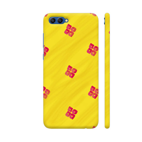 Red On Yellow Pattern Honor View 10 Cover | Artist: Miraculous