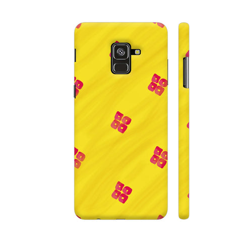 Red On Yellow Pattern Samsung A8 Plus Cover | Artist: Miraculous