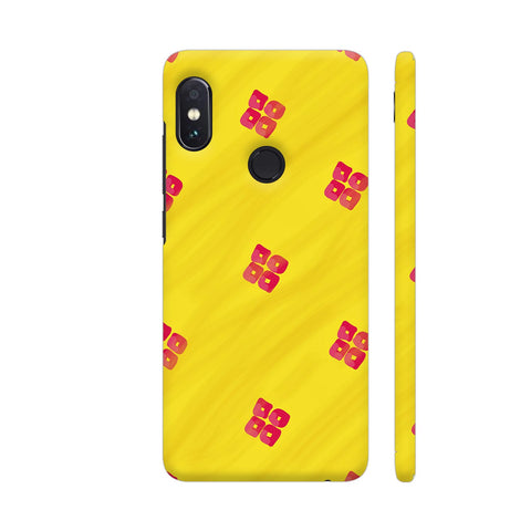 Red On Yellow Pattern Redmi Note 5 Pro Cover | Artist: Miraculous