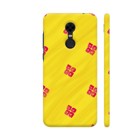Red On Yellow Pattern Redmi Note 5 Cover | Artist: Miraculous