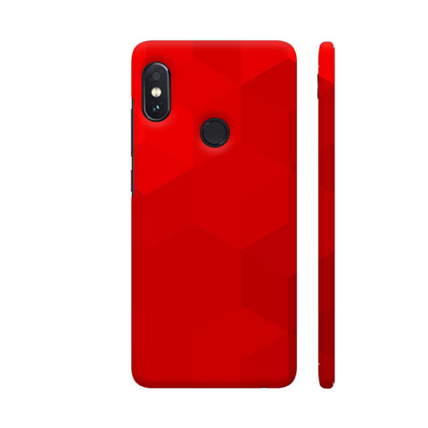 Red Polygons Redmi Note 5 Pro Cover | Artist: Astha