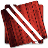 Red Wood Coaster (Set of 2)