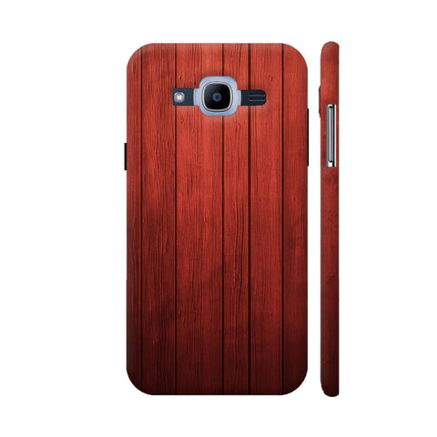 Red Wood Print Samsung Galaxy J2 Pro Cover | Artist: KARAN