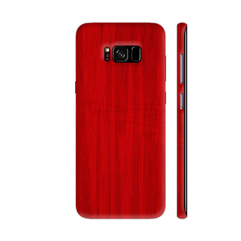 Red Wooden Print Samsung Galaxy S8 Cover | Artist: Astha