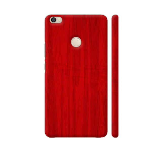Red Wooden Print Xiaomi Mi Max Cover | Artist: Astha