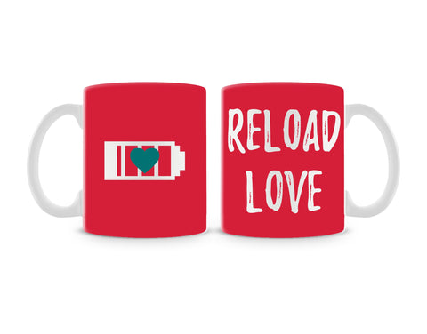 Reload Love On Red Mug (Set of 2)