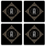 Retro Black Letter A Coaster (Set of 4)