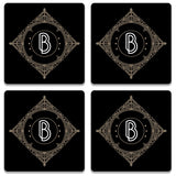 Retro Black Letter B Coaster (Set of 4)