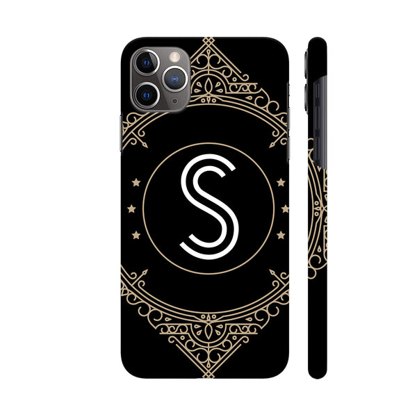 Retro Black Letter S iphone 11 Pro Cover | Artist: Abhinav