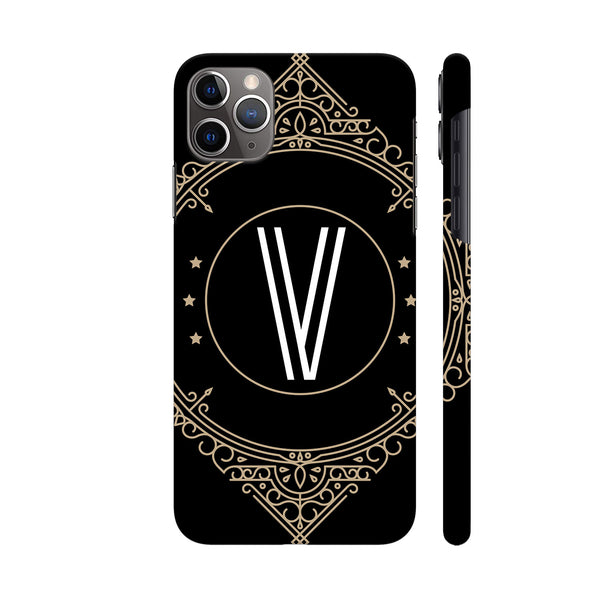 Retro Black Letter V iphone 11 Pro Cover | Artist: Abhinav