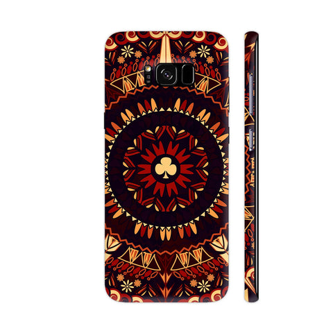 Retro Mandala In Shades Of Black And Red Samsung Galaxy S8 Cover | Artist: Sangeetha