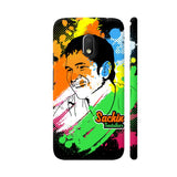 Sachin Tendulkar Painting On Black Moto G4 Play Cover | Artist: Designer Chennai
