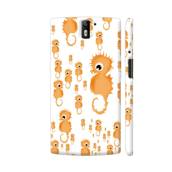 Seahorses Illustration In Yellow Pattern OnePlus One Cover | Artist: VanessaGF