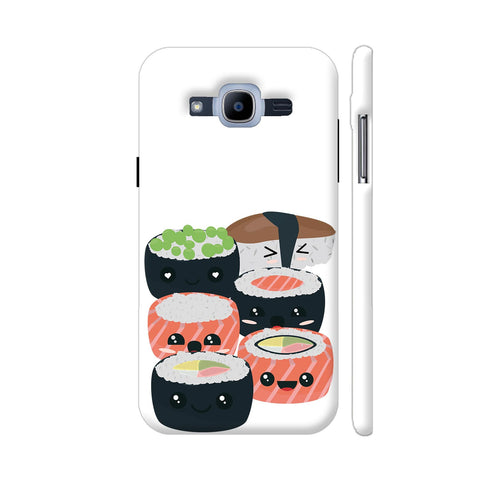 Set Of Funny Sushi Rolls Samsung Galaxy J2 Pro Cover | Artist: Torben