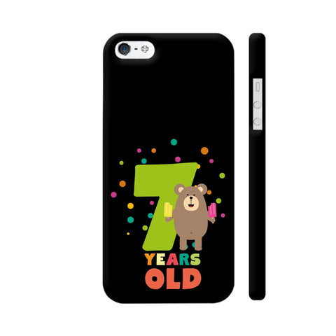 Seven Years Seventh Birthday Party Grizzly iPhone SE Cover | Artist: Torben