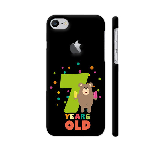 Seven Years Seventh Birthday Party Grizzly iPhone 7 Logo Cut Cover | Artist: Torben