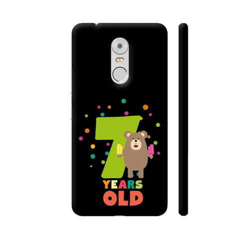 Seven Years Seventh Birthday Party Grizzly Lenovo K6 Note Cover | Artist: Torben