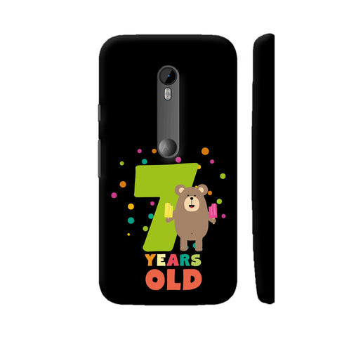 Seven Years Seventh Birthday Party Grizzly Moto G3 Cover | Artist: Torben