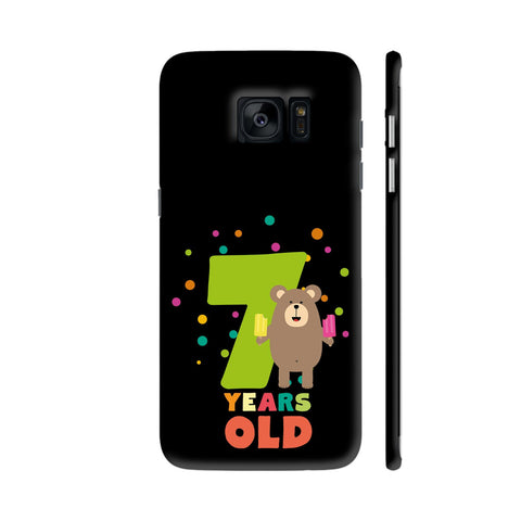Seven Years Seventh Birthday Party Grizzly Samsung Galaxy S7 Edge Cover | Artist: Torben