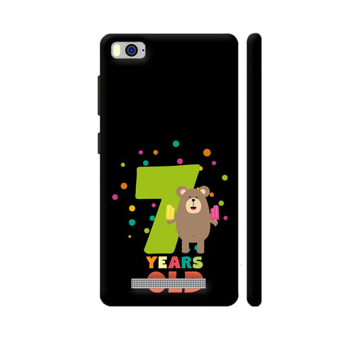 Seven Years Seventh Birthday Party Grizzly Xiaomi Mi 4i Cover | Artist: Torben