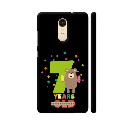 Seven Years Seventh Birthday Party Grizzly Redmi Note 3 Cover | Artist: Torben