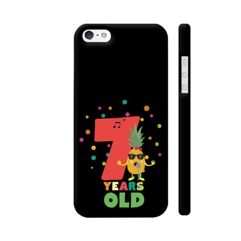Seven Years Seventh Birthday Party Pineapple iPhone SE Cover | Artist: Torben