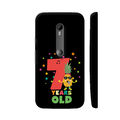 Seven Years Seventh Birthday Party Pineapple Moto G3 Cover | Artist: Torben