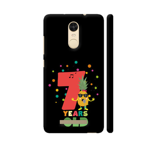 Seven Years Seventh Birthday Party Pineapple Redmi Note 3 Cover | Artist: Torben
