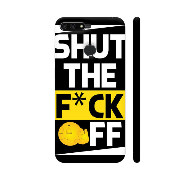Shut The Fuck Off On Black Honor 7A Cover | Artist: Designer Chennai