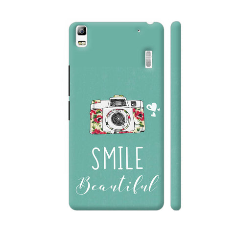 Smile Beautiful With Camera Lenovo A7000 Cover | Artist: Disha
