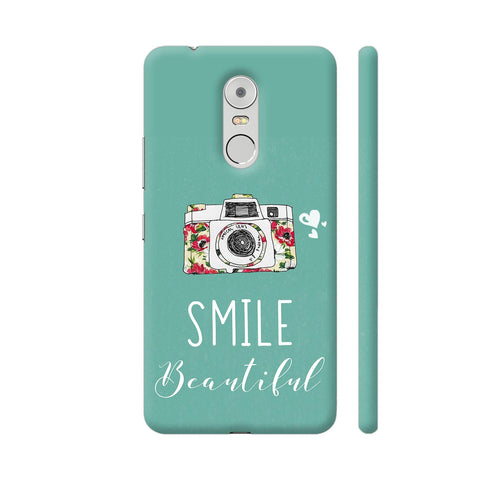 Smile Beautiful With Camera Lenovo K6 Note Cover | Artist: Disha