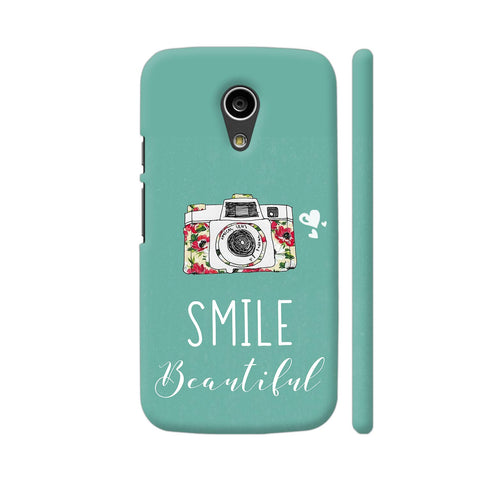Smile Beautiful With Camera Moto G2 Cover | Artist: Disha