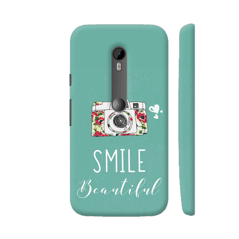 Smile Beautiful With Camera Moto G3 Cover | Artist: Disha