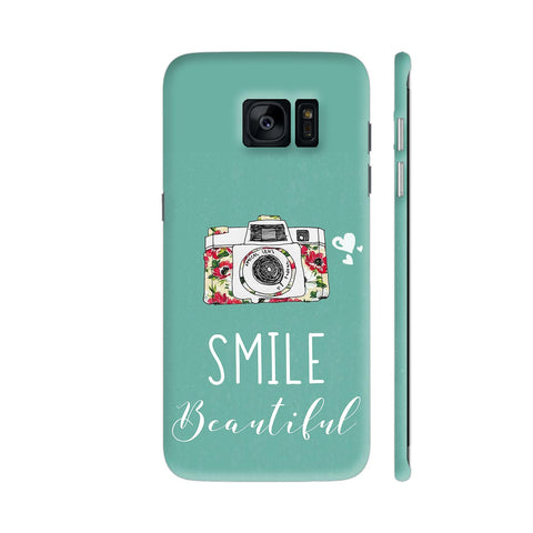 Smile Beautiful With Camera Samsung Galaxy S7 Edge Cover | Artist: Disha