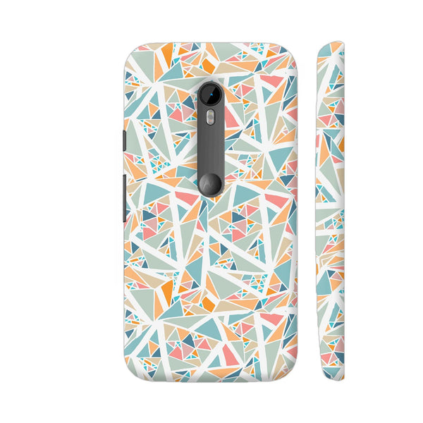 Summer Triangle Mirror Pattern Moto G Turbo Cover | Artist: Astha