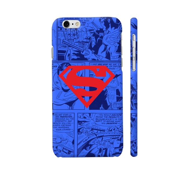 Superman Red On Blue iPhone 6 / 6s Cover | Artist: Abhinav