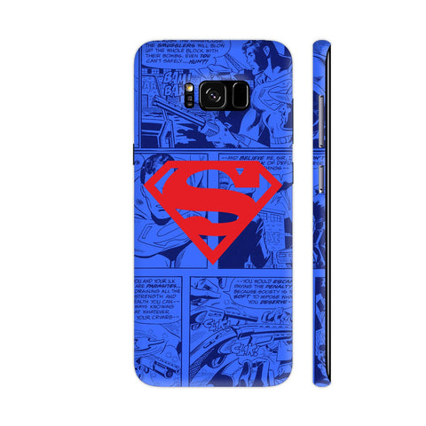 Superman Red On Blue Samsung Galaxy S8 Cover | Artist: Abhinav