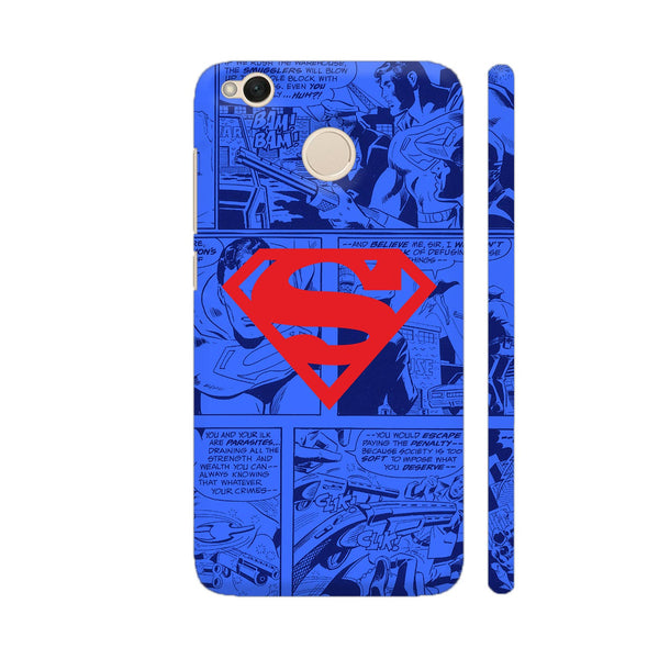 Superman Red On Blue Xiaomi Redmi 4 Cover | Artist: Abhinav