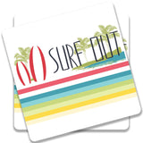 Surf Out With Multicolor Stripes Coaster | Artist: Urvashi