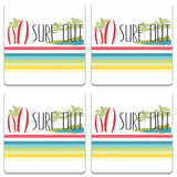 Surf Out With Multicolor Stripes Coaster (Set of 2) | Artist: Urvashi