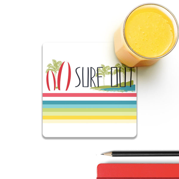 Surf Out With Multicolor Stripes Coaster