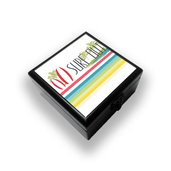 Surf Out With Multicolor Stripes Jewellery Box