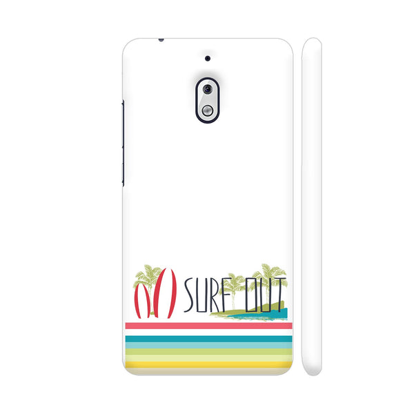Surf Out With Multicolor Stripes Nokia 2.1 Cover | Artist: Urvashi