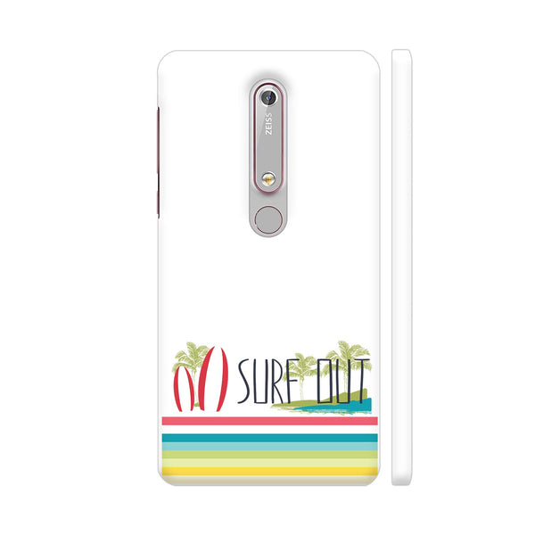 Surf Out With Multicolor Stripes Nokia 6.1 Cover | Artist: Urvashi