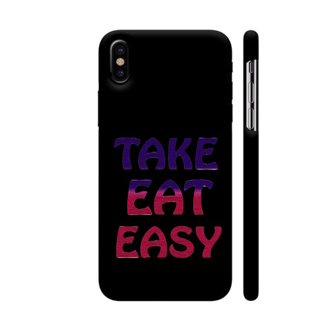 Take Eat Easy iPhone X Cover | Artist: Malls