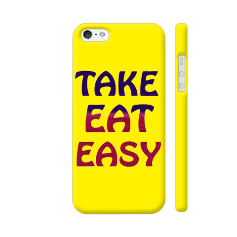 Take Eat Easy On Yellow iPhone SE Cover | Artist: Malls