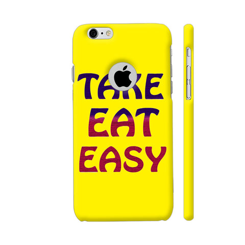 Take Eat Easy On Yellow iPhone 6 / 6s Logo Cut Cover | Artist: Malls